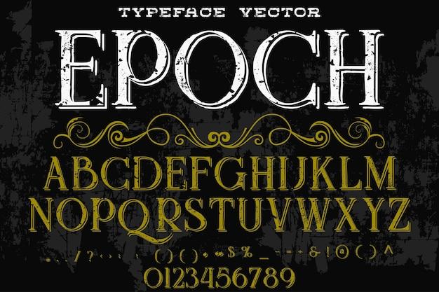 Retro typografie-schriftart-epoche