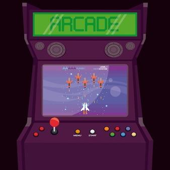 Retro videospiel arcade-maschine karte