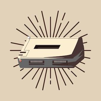 Retro videospiele design