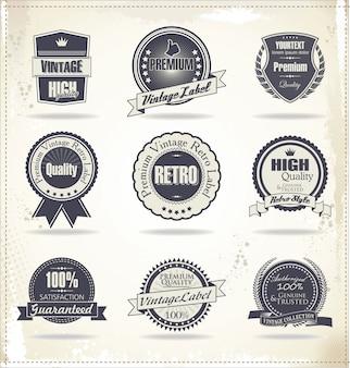 Retro vintage abzeichen und etiketten