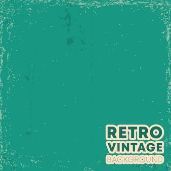 Retro-vintage-design-hintergrund mit grunge-textur. vektor-illustration.