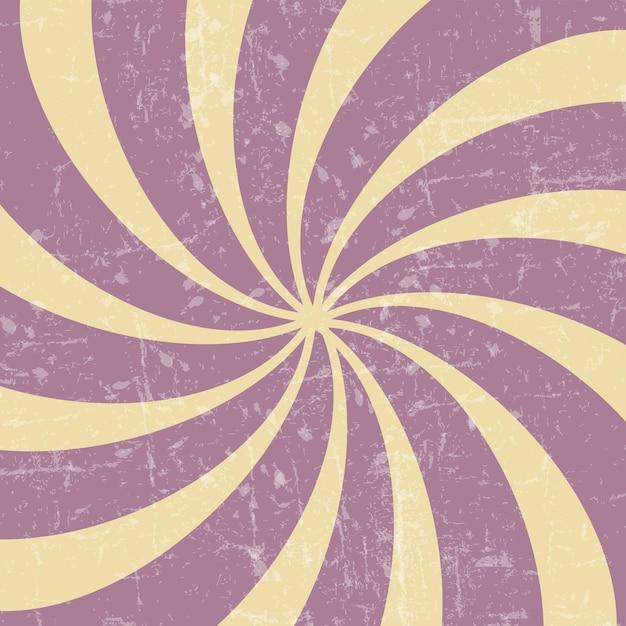 Retro vintage grunge hypnotischen background.vector illustration
