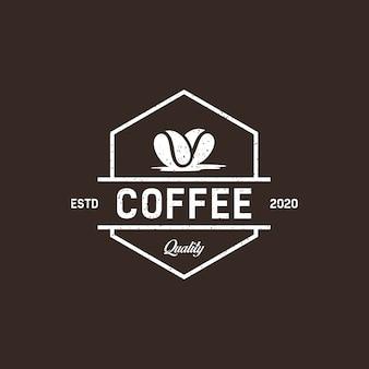 Retro vintage kaffeelogo-entwurfsinspiration