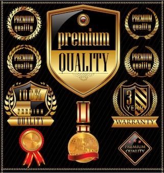 Retro vintage-labelsammlung in premium-qualität