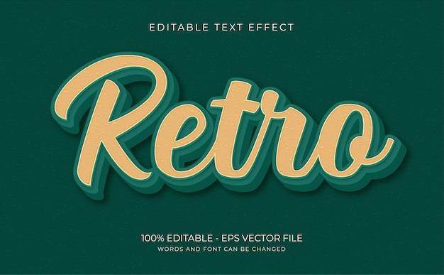 Retro, vintage texteffekt, editierbar und textstil premium-vektor