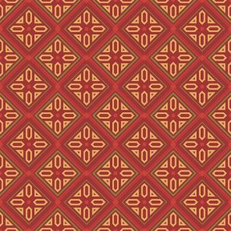 Retro vintage vintage chinesische traditionelle muster nahtlose hintergrund überprüfen geometrie plygon kreuzrahmen linie kaleidoskop