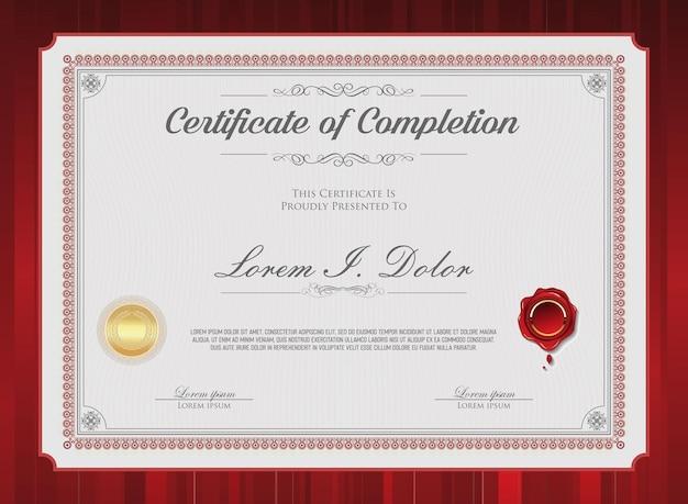 Retro vintage zertifikat oder diplom