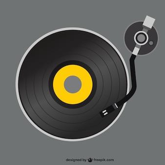 Retro-vinyl-plattenspieler vektor