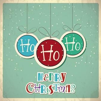 Retro weihnachten hintergrund vektor-illustration