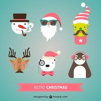 Retro weihnachten zeichen