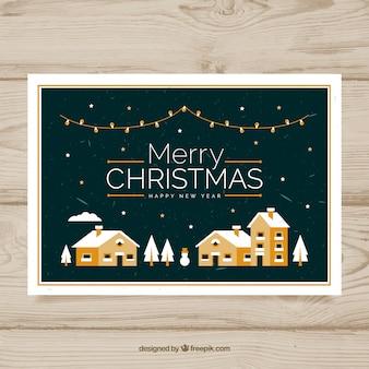 Retro weihnachtsgrußkarte