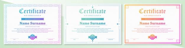 Retro weinlese des eleganten zertifikatdiploms
