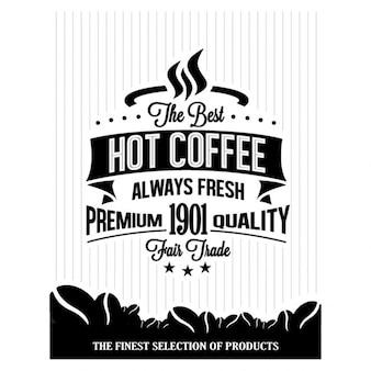 Retro weinlese-kaffee-hintergrund