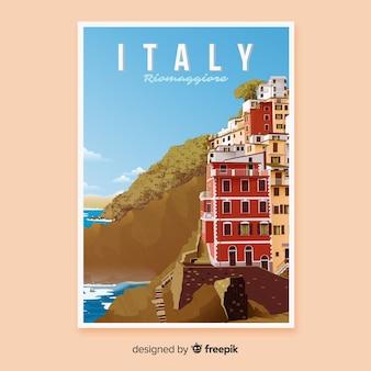 Retro werbeplakat von italien