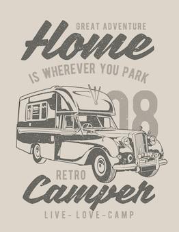 Retro wohnmobile