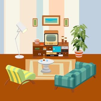 Retro wohnzimmer