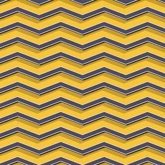 Retro-zickzack-muster, abstrakter geometrischer hintergrund im stil der 80er, 90er jahre. geometrische einfache illustration