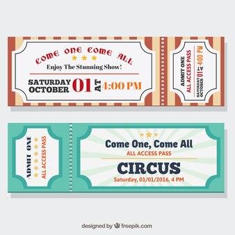 Retro-zirkus-tickets