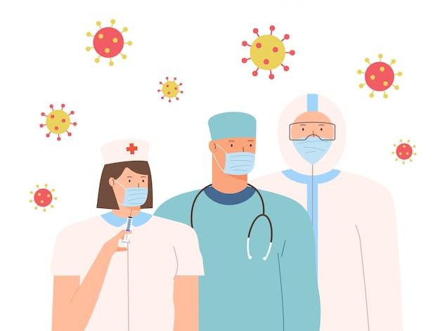 Retten sie patienten vor dem ausbruch des coronavirus und der bekämpfung des coronavirus