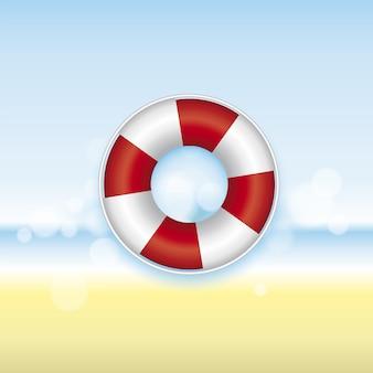 Rettungsring mit seelandschaft