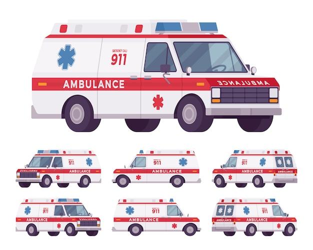 Rettungsset für rettungswagen