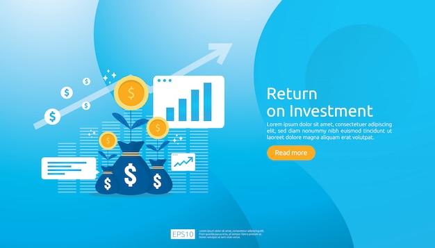 Return on investment roi-webvorlage