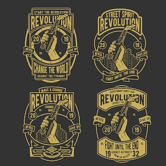 Revolution abzeichen design