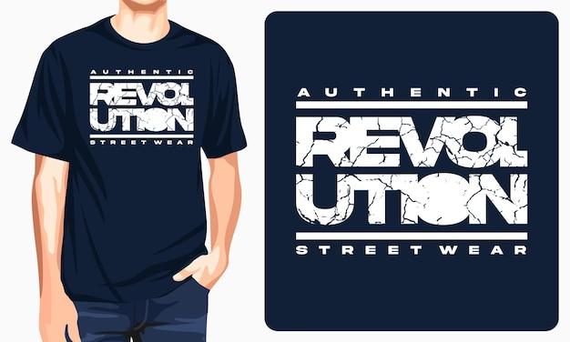 Revolution - grafisches t-shirt für druck