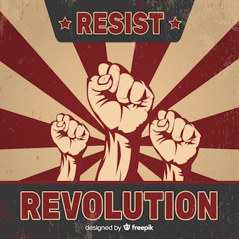 Revolution komposition mit vintage-stil