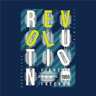 Revolution text grafik typografie