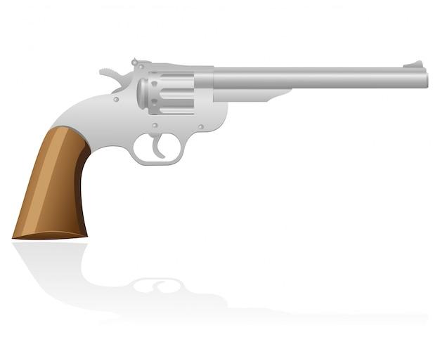 Revolver die wilde westvektorillustration