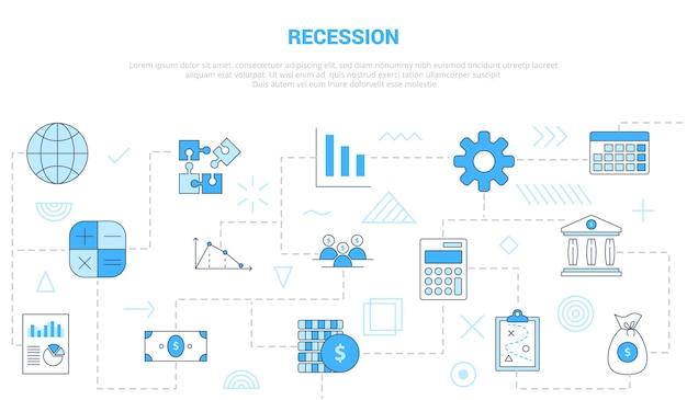 Rezessionskonzept mit eingestellter vorlage