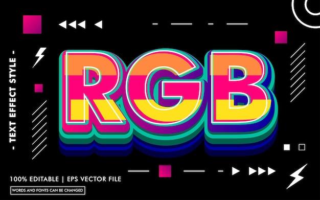 Rgb-texteffektvorlage