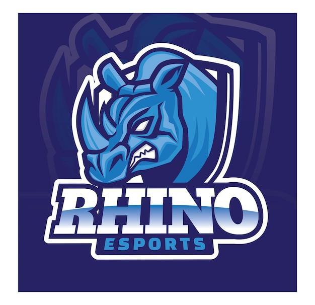 Rhino e sport gaming logo design