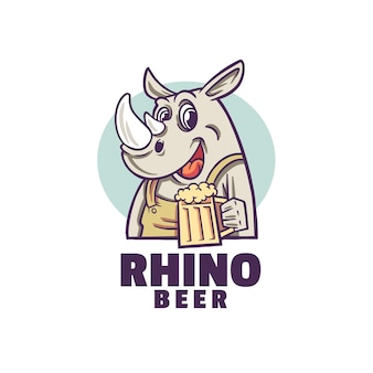 Rhino happy beer logo