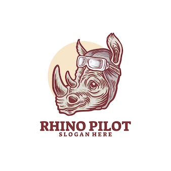 Rhino lächeln pilot logo
