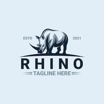 Rhino logo vorlage premium