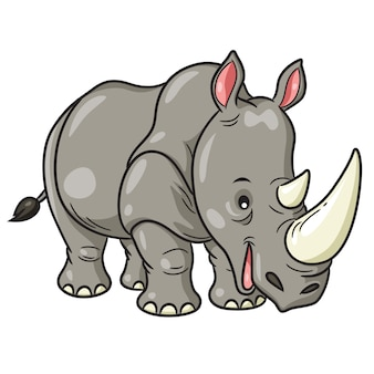 Rhino niedlichen cartoon