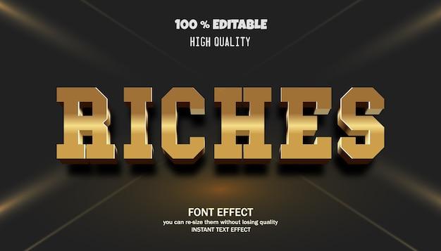 Riches text effekt bearbeitbare schriftart
