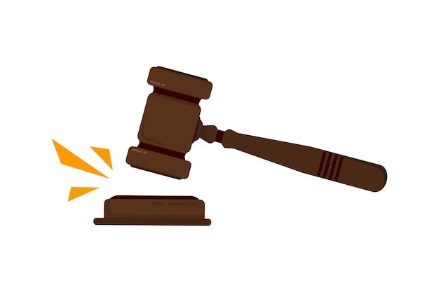 Richterhammer. richterhammerhammer für urteile und rechnungen, mit holzständer. konzept für recht und gerechtigkeit. auktionshammer aus holz