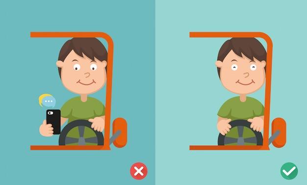 Richtige und falsche fahrweise, um autounfälle zu vermeiden
