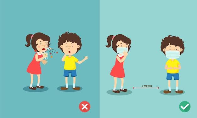 Richtige und falsche methoden zum schutz der grippe beim niesen
