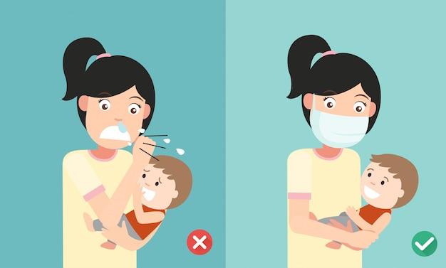 Richtige und falsche wege, um das baby zu schützen