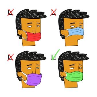 Richtige verwendung der maske