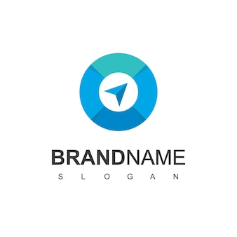 Richtungszeiger für kompass-logo-design-vorlage