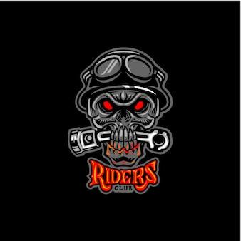 Riders club schädelschlagkolben