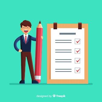 Riesen-checkliste für mann-checkliste