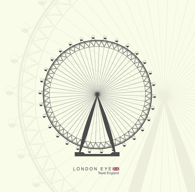 Riesenrad in london. das london eye