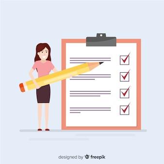 Riesige checkliste