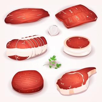 Rindfleisch fleisch set